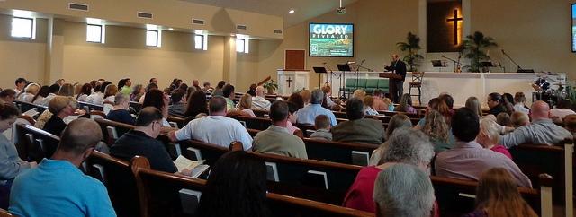 Pastor Wallnofer Preaching at Klondike Baptist Church
